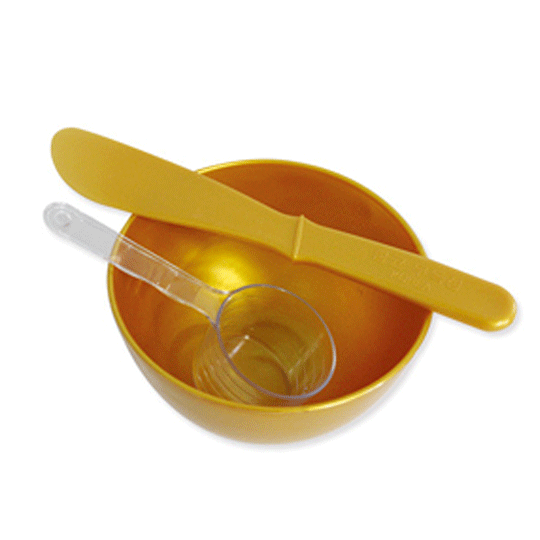 Gold Bowl & Spatula Set
