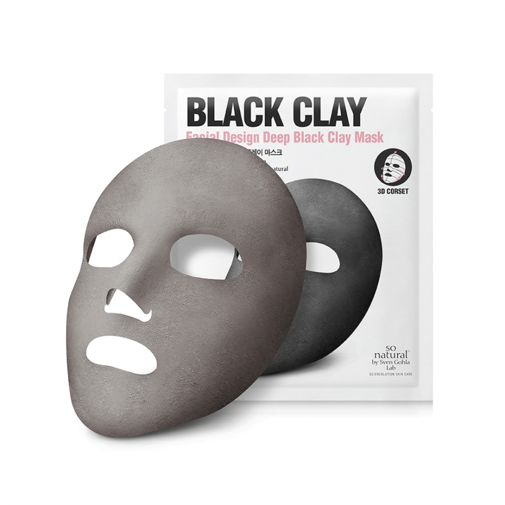Black Clay Corset Mask