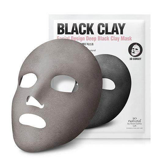 so natural | Black Clay Corset Mask