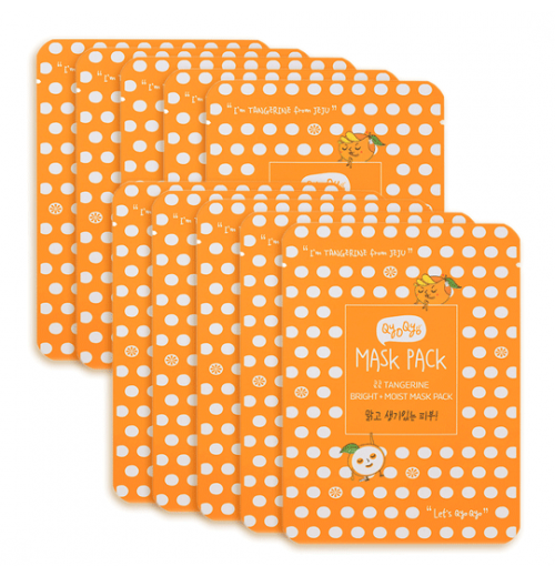 Tangerine Bright + Moist Mask Pack [10 Stück]